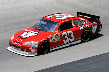 BRISTOL, TN - AUGUST 20:  Clint Bowyer drives the #33 Hamburger Helper Chevrolet during practice for the NASCAR Sprint Cup Series IRWIN Tools Night Race at Bristol Motor Speedway on August 20, 2010 in Bristol, Tennessee.  (Photo by John Harrelson/Getty Im