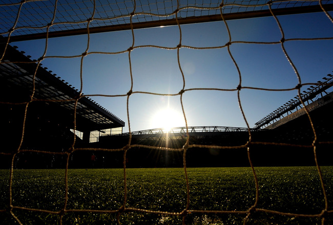 LIVERPOOL, ENGLAND - JANUARY 30: A general view of the Stadium during the Barclays Premier League match between Liverpool and Bolton Wanderers at Anfield on January 30, 2010 in Liverpool, England.  (Photo by Laurence Griffiths/Getty Images)