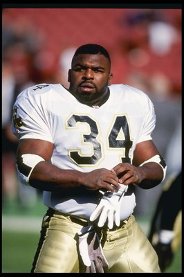 13 Dec 1992: Running back Craig Heyward of the New Orleans Saints looks on during a game against the Los Angeles Rams at Anaheim Stadium in Anaheim, California. The Saints won the game, 37-14.
