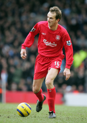 LIVERPOOL, UNITED KINGDOM - FEBRUARY 26:  Dietmar Hamann of Liverpool during the Barclays Premiership match between Liverpool and Manchester City at Anfield on February 26, 2006 in Liverpool, England.  (Photo by Ross Kinnaird/Getty Images)