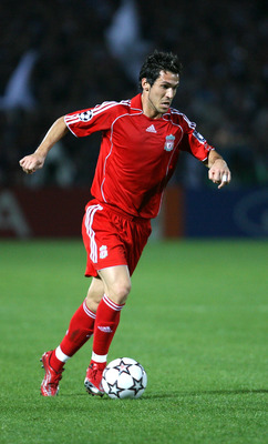 BORDEAUX, FRANCE - OCTOBER 18:  Luis Garcia of Liverpool in action  during the UEFA Champions League Group C match between Bordeaux and Liverpool at the Jacques Chaban Delmas stadium on October 18, 2006 in Bordeaux, France.  (Photo by Clive Brunskill/Gett