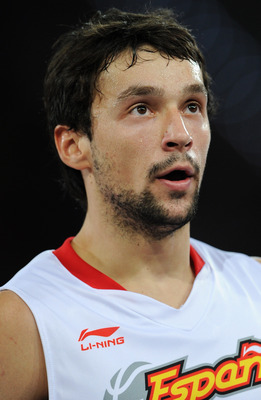 MADRID, SPAIN - AUGUST 22:  Sergio Llull of Spain watches on during a friendly basketball game between Spain and the USA at La Caja Magica on August 22, 2010 in Madrid, Spain.  (Photo by Jasper Juinen/Getty Images)
