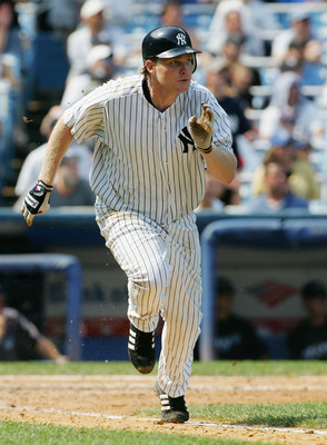 NEW YORK - AUGUST 03:  Craig Wilson #39 of the New York Yankees runs to first base against the Toronto Blue Jays at Yankee Stadium on August 3, 2006 in the Bronx borough of New York City. The Yankees defeated the Blue Jays 8-1.(Photo by Jim McIsaac/Getty
