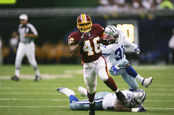 DALLAS - SEPTEMBER 17:  Running back Ladell Betts #46 of the Washington Redskins runs with the ball during the game against the Dallas Cowboys at Texas Stadium on September 17, 2006 in Dallas, Texas. The Cowboys defeated the Redskins 27-10.  (Photo by Ron