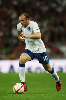 LONDON, ENGLAND - SEPTEMBER 03:  Wayne Rooney of England is seen during the UEFA EURO 2012 Group G Qualifying match between England and Bulgaria at Wembley Stadium on September 3, 2010 in London, England.  (Photo by Bryn Lennon/Getty Images)