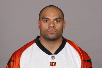 CINCINNATI - 2009:  Fui Vakapuna of the Cincinnati Bengals poses for his 2009 NFL headshot at photo day in Cincinnati, Ohio. (Photo by NFL Photos)
