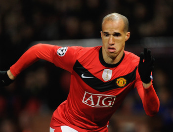 MANCHESTER, ENGLAND - NOVEMBER 03:  Gabriel Obertan of Manchester United in action during the UEFA Champions League Group B match between Manchester United and CSKA Moscow at Old Trafford on November 3, 2009 in Manchester, England.  (Photo by Michael Rega