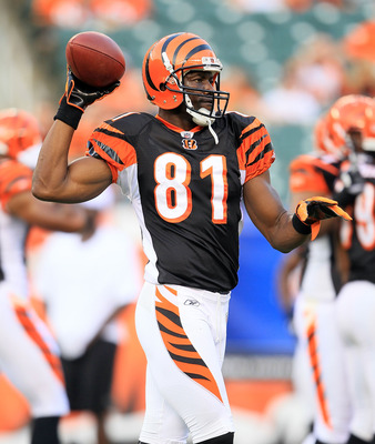CINCINNATI - AUGUST 20:  Terrell Owens #81 of the Cincinnati Bengals is pictured before the NFL preseason game against the Philadelphia Eagles at Paul Brown Stadium on August 20, 2010 in Cincinnati, Ohio.  (Photo by Andy Lyons/Getty Images)