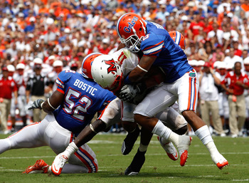 The Gator secondary recorded three of Florida's four interceptions Saturday.
