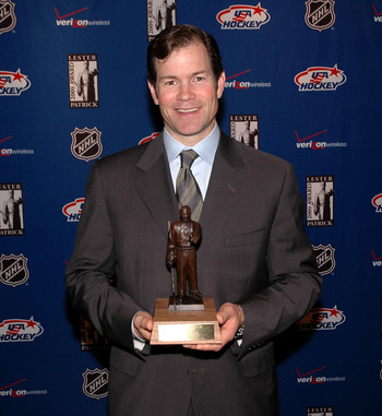 NEW YORK - OCTOBER 21: Former NHL player and 2009 Lester Patrick Trophy winner Mike Richter poses for a photo during the Lester Patrick Trophy Celebration at Gotham Hall on October 21, 2009 in New York City.  (Photo by Andy Marlin/Getty Images)