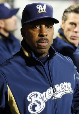 NEW YORK - APRIL 17:  Bench coach Willie Randolph of the Milwaukee Brewers looks on against the New York Mets on April 17, 2009 at Citi Field in the Flushing neighborhood of the Queens borough of New York City.  (Photo by Jim McIsaac/Getty Images)