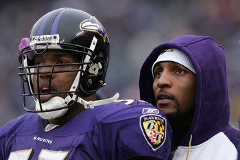 Ray Lewis and Terrell Suggs are two former first round pick who are the best linebacker tandem in football.