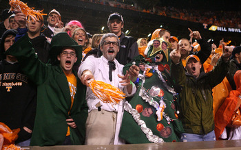 KNOXVILLE, TN - OCTOBER 31:  Fans dress up on Halloween during the game between the South Carolina Gamecocks and Tennessee Volunteers at Neyland Stadium on October 31, 2009 in Knoxville, Tennessee.  (Photo by Streeter Lecka/Getty Images)