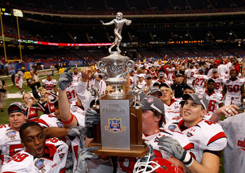 Utes celebrate 2008 Sugar Bowl win over favored Alabama