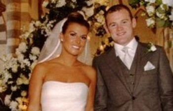 Coleen Rooney and Wayne Rooney at their wedding (Picture)