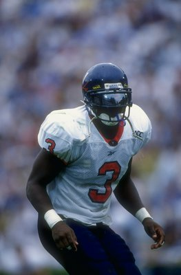 27 Sep 1997:  Anthony Poindexter #3 of the Virginia Cavaliers looks on during a game against the North Carolina Tarheels at the Kenan Stadium in Chapel Hill, North Carolina. The Tarheels defeated the Cavaliers 48-20. Mandatory Credit: Doug Pensinger  /All