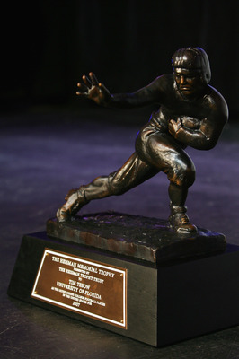 NEW YORK - DECEMBER 08: The Heisman trophy after the 73rd Annual Heisman Memorial Trophy Award on December 8, 2007 in New York City.  (Photo by Chris Trotman/Getty Images)
