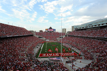 COLUMBUS, OH - SEPTEMBER 2:  The Ohio State Buckeyes take the field at Ohio Stadium before a game against the Marshall Thundering Herd on September 2, 2010 in Columbus, Ohio.  (Photo by Jamie Sabau/Getty Images)