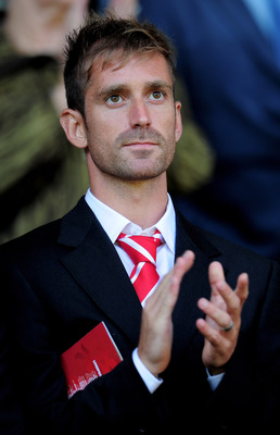 LIVERPOOL, ENGLAND - AUGUST 29:  New Liverpool signing Raul Meireles looks on from the stands during the Barclays Premier League match between Liverpool and West Bromwich Albion at Anfield on August 29, 2010 in Liverpool, England. (Photo by Shaun Botteril