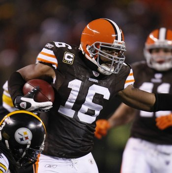 Browns wide receiver Josh Cribbs