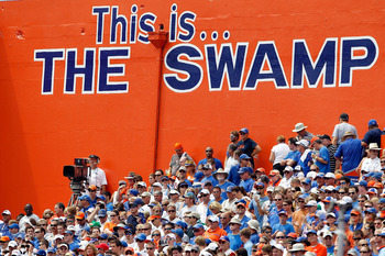 GAINESVILLE, FL - SEPTEMBER 04:  A scenic view of the crowd during a game between the Miami University RedHawks and the Florida Gators at Ben Hill Griffin Stadium on September 4, 2010 in Gainesville, Florida.  (Photo by Sam Greenwood/Getty Images)