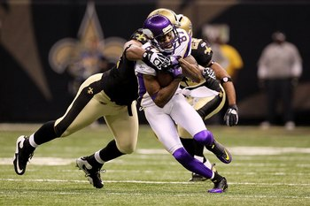 Bernard Berrian and the Vikings' receivers could not make any plays against the Saints.