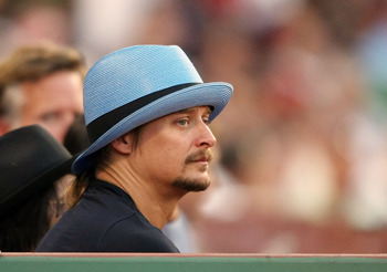BOSTON - JULY 28:  Musician Kid Rock attends the Boston Red Sox versus  the Oakland Athletics at Fenway Park July 28, 2009 in Boston, Massachusetts.  (Photo by Elsa/Getty Images)