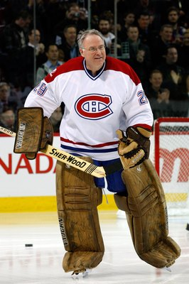 MONTREAL- DECEMBER 4:  Former Montreal Canadien Ken Dryden skates during the Centennial Celebration ceremonies prior to the NHL game between the Montreal Canadiens and Boston Bruins on December 4, 2009 at the Bell Centre in Montreal, Quebec, Canada.  The
