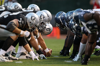The Raiders get ready to squash some Seahawks