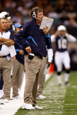 NEW ORLEANS - AUGUST 27:  Head coach Norv Turner of the San Diego Chargers watches a play against the New Orleans Saints at the Louisiana Superdome on August 27, 2010 in New Orleans, Louisiana.  (Photo by Chris Graythen/Getty Images)