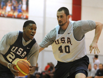 Rudy Gay and Kevin Love are two of the versatile big men on Team USA that wear down opponents and create mismatches.