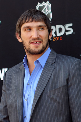 LAS VEGAS - JUNE 23:  Alex Ovechkin of the Washington Capitals arrives during the red carpet arrivals for the 2010 NHL Awards at the Palms Casino Resort on June 23, 2010 in Las Vegas, Nevada.  (Photo by Bruce Bennett/Getty Images)