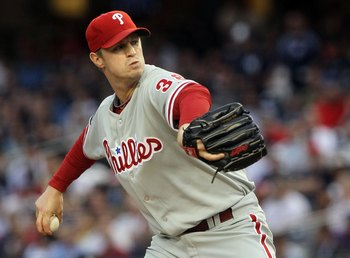 NEW YORK - JUNE 17:  Kyle Kendrick #38 of the Philadelphia Phillies delivers a pitch against the New York Yankees on June 17, 2010 at Yankee Stadium in the Bronx borough of New York City.  (Photo by Jim McIsaac/Getty Images)