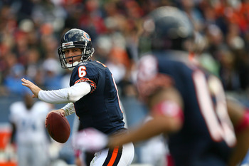 Though he struggled with turnovers throughout the rest of the season, Bears QB Jay Cutler hammered the Lions with over a 100.0 QB Rating.