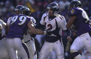 No quarterback in 2000 was safe from the onslaught called the 2000 Baltimore Ravens pass rush