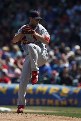 CHICAGO - APRIL 17:  P.J. Walters #62 of the St. Louis Cardinals pitches against the Chicago Cubs on April 17, 2009 at Wrigley Field in Chicago, Illinois. (Photo by Jonathan Daniel/Getty Images)