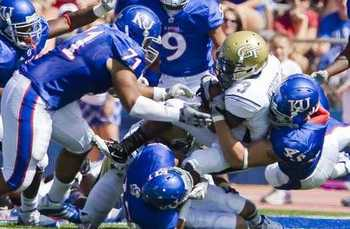 The Jayhawk's improved tackling helped pull out the victory.