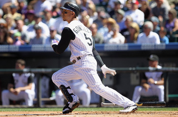 Carlos Gonzalez has put up an amazing 2010 season, considering he'd never played in more than 90 games in his MLB career.