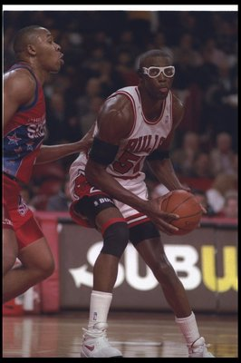 20 Apr 1993:  Forward Horace Grant #54 of the Chicago Bulls moves the ball during a game against the Philadelphia 76ers at the United Center in Chicago, Illinois.  The Bulls won the game, 123-94. Mandatory Credit: Jonathan Daniel  /Allsport