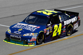 RICHMOND, VA - SEPTEMBER 10:  Jeff Gordon drives the #24 DuPont/National Guard Chevrolet during practice for the NASCAR Sprint Cup Series Air Guard 400 at Richmond International Raceway on September 10, 2010 in Richmond, Virginia.  (Photo by Todd Warshaw/