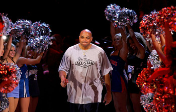 LAS VEGAS - FEBRUARY 17:  NBA legend Charles Barkley is introduced before the start of the Bavetta/Barkley Challenge during NBA All-Star Weekend on February 17, 2007 at Thomas & Mack Center in Las Vegas, Nevada.  NOTE TO USER: User expressly acknowledges