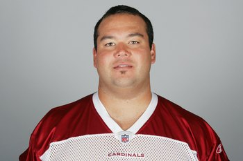 GLENDALE, AZ - 2009:  Donovan Raiola of the Arizona Cardinals poses for his 2009 NFL headshot at photo day in Glendale, Arizona.  (Photo by NFL Photos)
