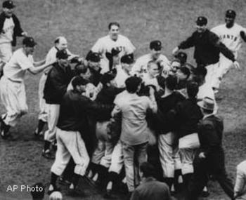 "The Giants Celebrate Following Bobby Thompson's ""Shot Heard Round The World"""