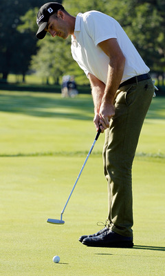 VIENNA, AUSTRIA - SEPTEMBER 16:  Miguel Angel Jimenez of Spain plays his approach shot on the fifth hole during the first round of the Austrian golf open presented by Botarin at the Diamond country club on September 16, 2010 in Atzenbrugg near Vienna, Aus