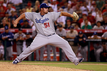 ANAHEIM, CA - JULY 13:  National League All-Star Jonathan Broxton #51 of the Los Angeles Dodgers throws a pitch during the 81st MLB All-Star Game at Angel Stadium of Anaheim on July 13, 2010 in Anaheim, California.  (Photo by Jeff Gross/Getty Images)