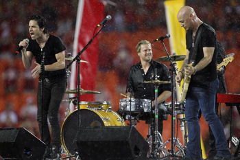 KANSAS CITY, MO - SEPTEMBER 13:  Train performs during halftime of the game between the San Diego Chargers and the Kansas City Chiefs on September 13, 2010 at Arrowhead Stadium in Kansas City, Missouri.  (Photo by Jamie Squire/Getty Images)