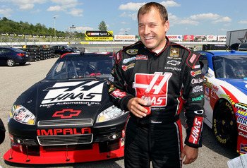 LOUDON, NH - JUNE 25:  Ryan Newman, driver of the #39 Haas Automation Chevrolet, stands in the garage area after qualifying for the NASCAR Sprint Cup Series LENOX Industrial Tools 301 at New Hampshire Motor Speedway on June 25, 2010 in Loudon, New Hampshi