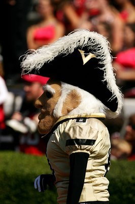 ATHENS, GA - OCTOBER 14:  Mr. C - the mascot of the Vanderbilt University Commodores - walks during the game against the University of Georgia Bulldogs during at Sanford Stadium on October 14, 2006 in Athens, Georgia. Vanderbilt won 24-22. (Photo by Scott