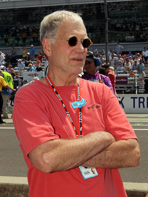 INDIANAPOLIS - MAY 30:  David Letterman looks on prior to the IZOD IndyCar Series 94th running of the Indianapolis 500 at the Indianapolis Motor Speedway on May 30, 2010 in Indianapolis, Indiana.  (Photo by Nick Laham/Getty Images)