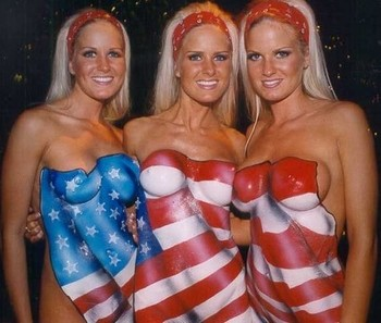 Dahm_triplets_with_american_flag_body_pa_display_image